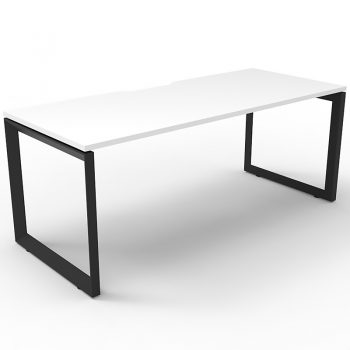 white and black desk