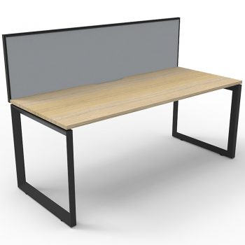 Anvil desk with divider