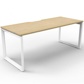 Timber and white desk