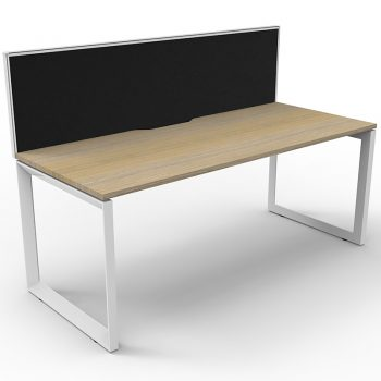 single desk with divider