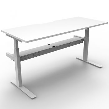Electric sit stand desk, white