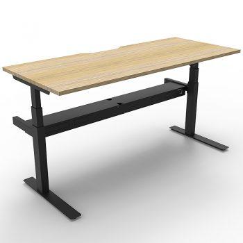 Sit stand desk, black