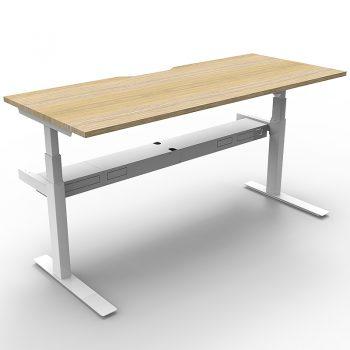 Sit stand desk, white
