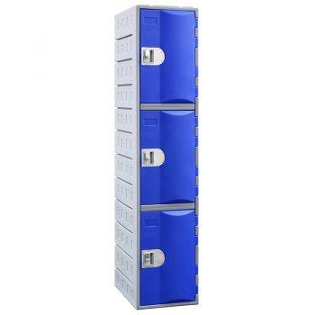 Plastic 3 door lockers