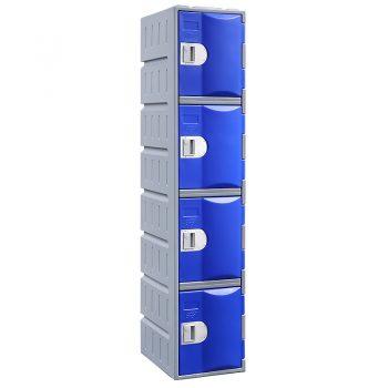 Blue 4 door lockers