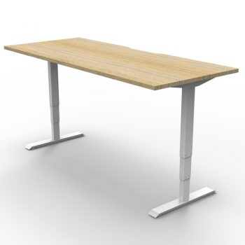 white sit to stand desk