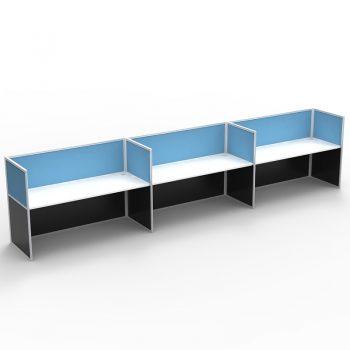 3 inline desk pod