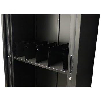Black tambour file dividers