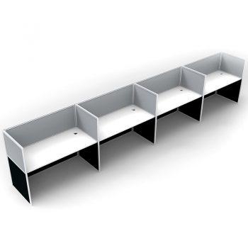 straight desk pod