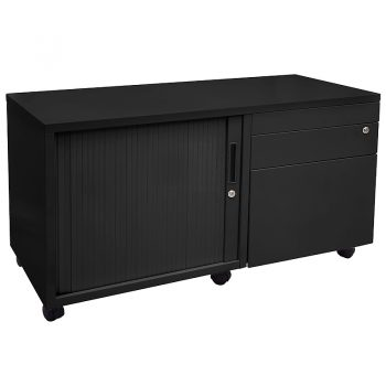 Black mobile drawer caddy