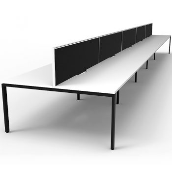 Group of white desks