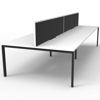 4 back to back desks