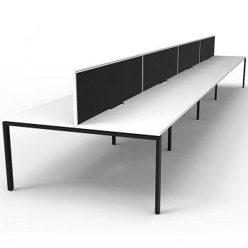 pod of white desks
