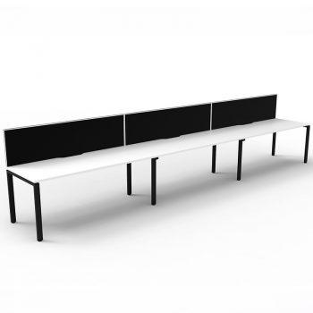 3 attached desks