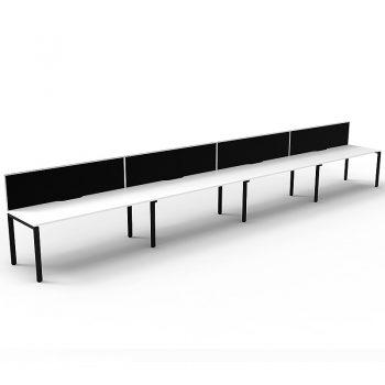 4 straight desks