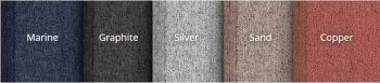 Zip Screen Divider Fabric Colours