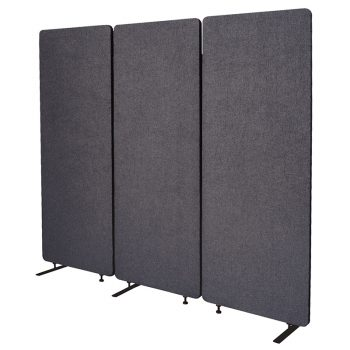 Zip Set of 3 Screen Dividers, Graphite Colour