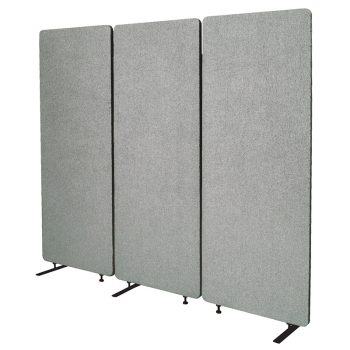 Zippy Set of 3 Screen Dividers, Silver Colour