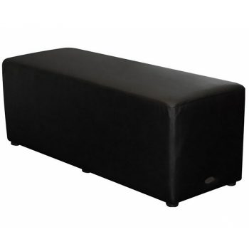 Long Black Ottoman