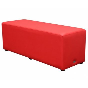 Long Red Ottoman