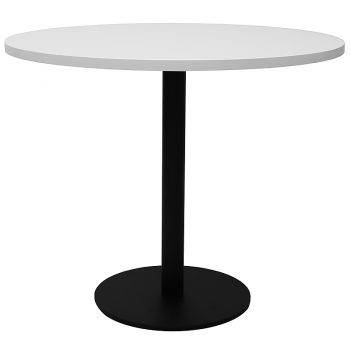 Black and white round table