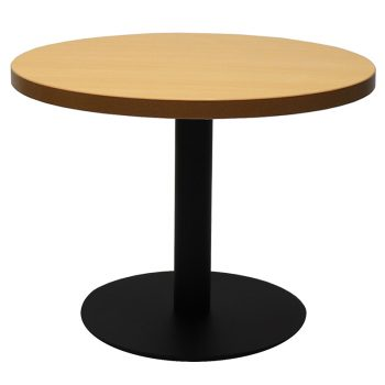 Vogue Round Coffee Table, Beech Table Top, Black Table Base