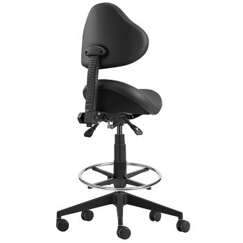 Brody Saddle Drafting Chair, Rear View