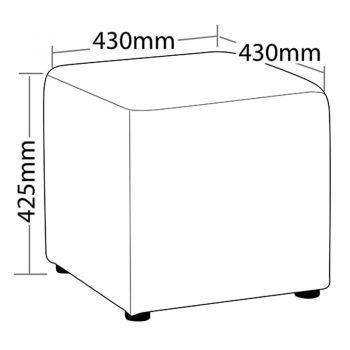 Flexi Cube Ottoman, Dimensions