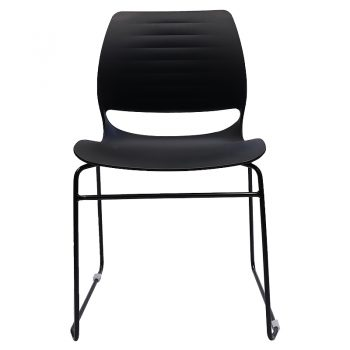Jacob Chair, Black, Front View
