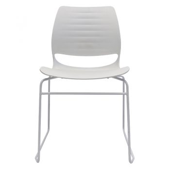 Jacob Chair, White, Front View
