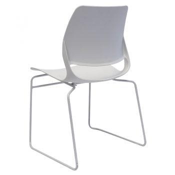 Jacob Chair, White, Rear Angle View