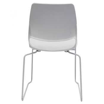 Jacob Chair, White, Rear View