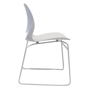 Jacob Chair, White, Side View 2