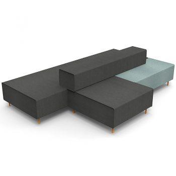 Black reception seating