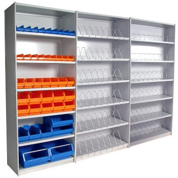 Scope Metal Shelving, Stand Alone Unit, with 2 Add-On Units
