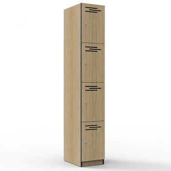 Natural Oak 4 door locker