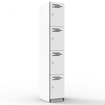 Natural White 4 door locker