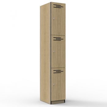 Natural Oak 3 door locker
