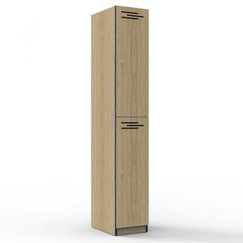 Natural Oak 2 door locker