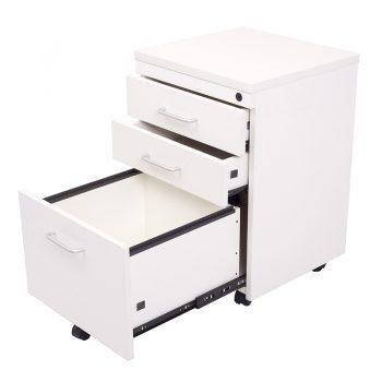 Trend Melamine Mobile Drawer Unit, White