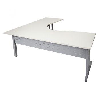 Trend Select Corner Workstation, White Desk Top