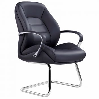 Magnum-VC, Black leather executive visitor chair