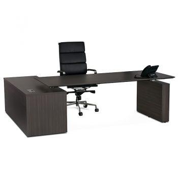 Dark timber desk
