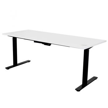 Summit Sit Stand Desk, White