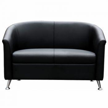 Black 2 seat sofa