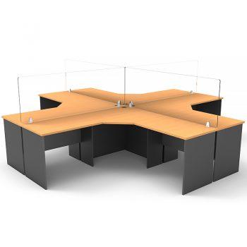 covid-19 clear desk screen