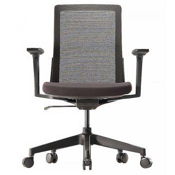 Black mesh meeting chair