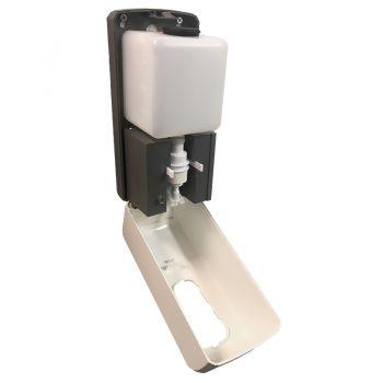 Wall mounted sanitiser dispenser, open