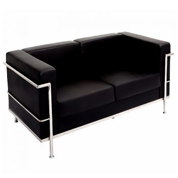 black reception sofa