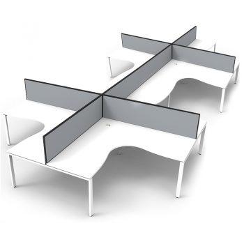 white office desks